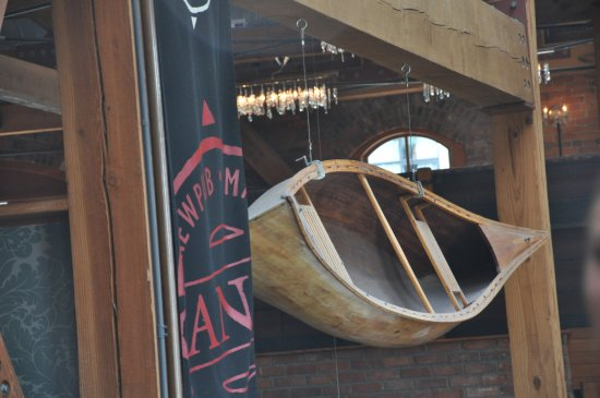 Canoe Brewpub: the canoe in Canoe