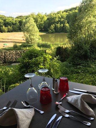 Meudon, Γαλλία: Vue sur l étang magique et bucolique