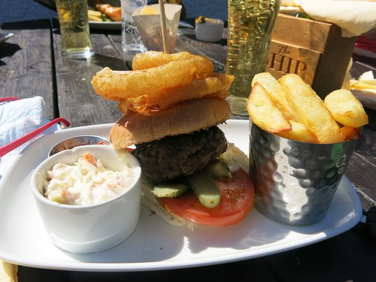Lathom, UK: Lancahire burger