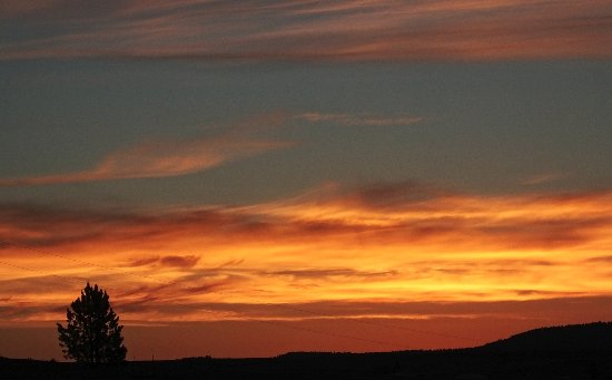 Sawin' Logs: Sunset from the big porch