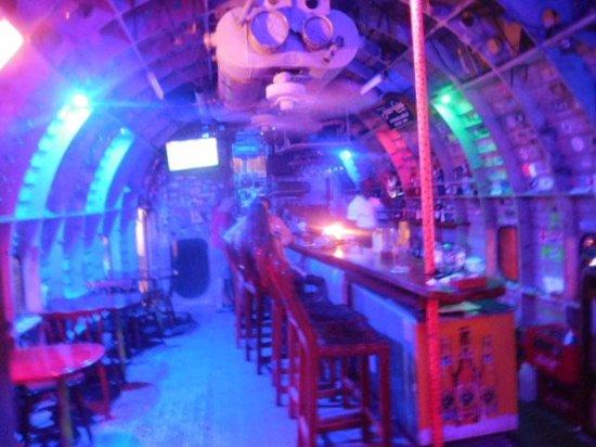 El Avion The Bar Inside Fuselage Was Really Cool In Neon