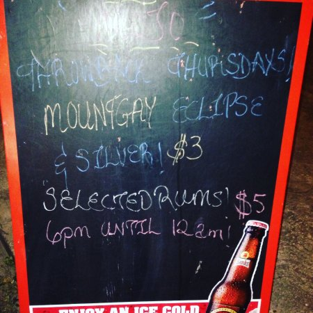Worthing, Barbados: Thursday night rum offers!