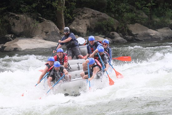 Lansing, Batı Virjinya: White water rafting the New River