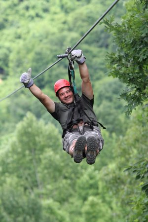 Lansing, Batı Virjinya: Zip lining the Gravity Zip Line tour