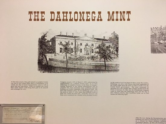 This picture was taken in the museum. It was the Dahlonega Mint.