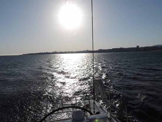 Dreamboats:  Sunset on the Catamaran.