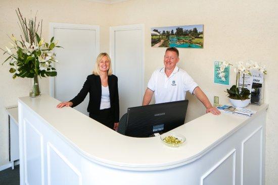 Howlong, Australien: Reception - Raelene and Peter