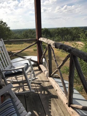 Kyle, TX: Little private balcony attached to room