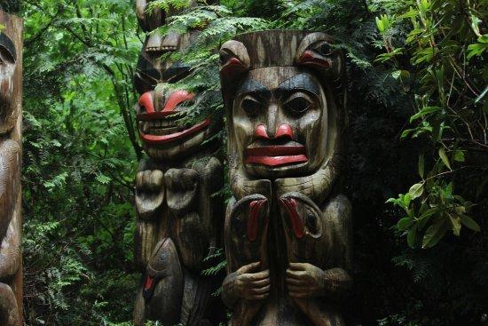 Vancouver Utara, Kanada: totem poles