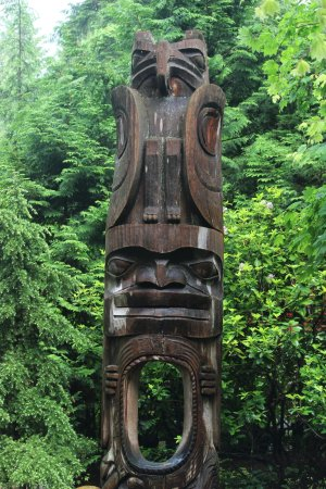 Vancouver Utara, Kanada: totem pole