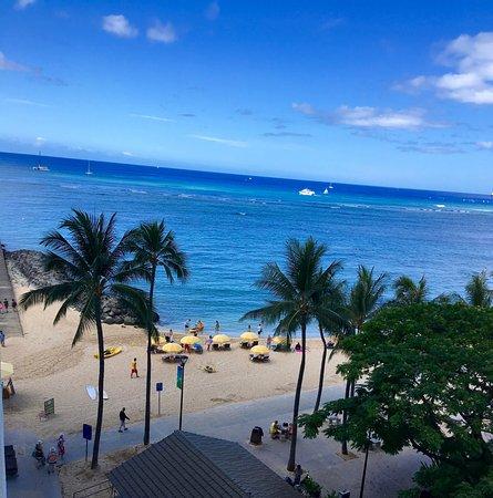 Waikiki Shore: View from #605 of beach