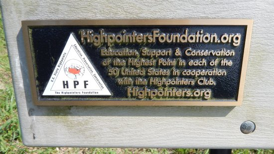 Iuka, MS: Plaque on the bench at the top of Woodall Mountain.