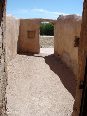 Tumacacori, AZ: A courtyard off the church