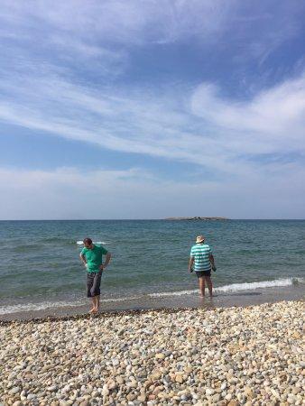 Parigoria, Grecia: Praia próxima ao hotel
