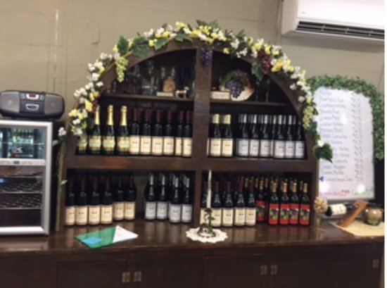 Nauvoo, IL: Nice display of wines for sale