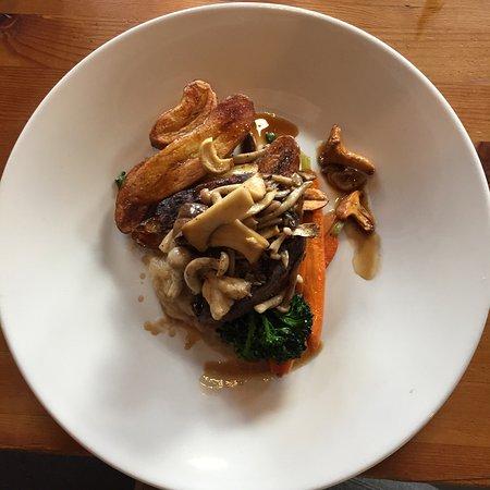 The Bison Restaurant: Beef tenderloin, wild b.c mushrooms, fingerling potatoes  - very good