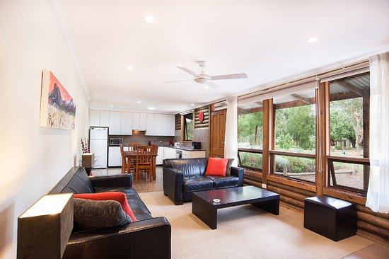Dunkeld, Australia: Living area in the Luxury Spa cottage