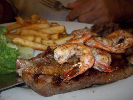 Saint George, SC: My husband got a great steak and shrimp, cooked to perfection!