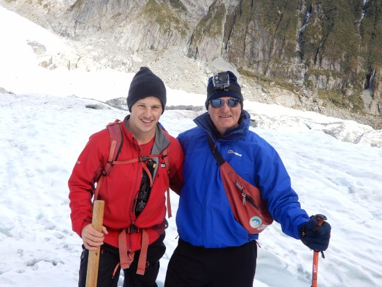 Franz Josef, New Zealand: Me and our guide, Ben