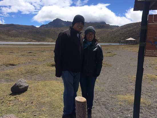 Cotopaxi Province, Ecuador: In the lake of the Cotopaxi National Park