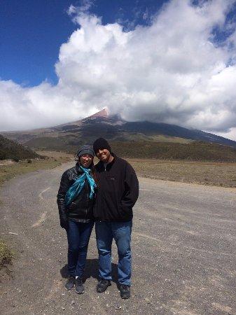 Cotopaxi Province, Ecuador: Volcano slightly clear.