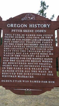Terrebonne, Oregón: Peter Skene Ogden history sign