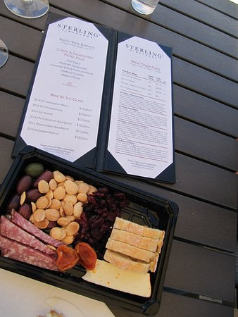 Sterling Vineyards: Cheese pack served at Terrace