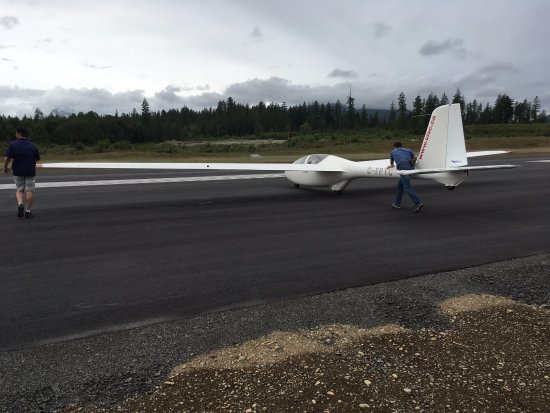 Port Alberni, Kanada: Positioning the glider