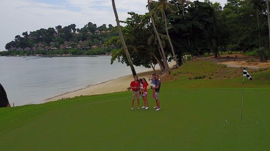 Banyan Tree Bintan: Laguna Bintan Golf Course with the Banyan Tree in the background