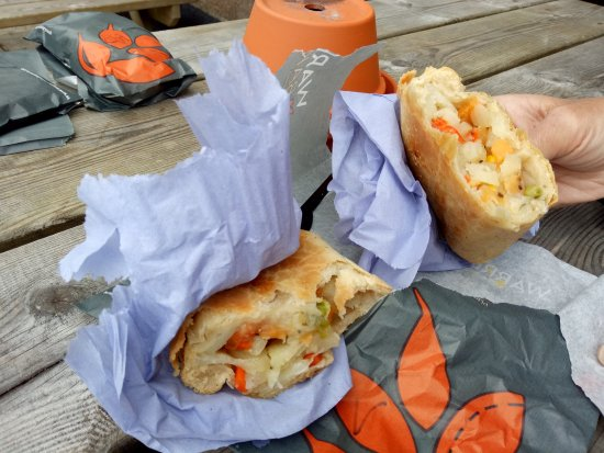 St Just, UK: vegetarian cornish pasties
