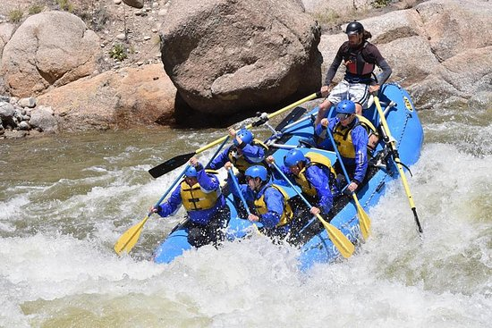 Nathrop, CO: Our 15 June 2017 rafting trip as we came out of Brown's Canyon.