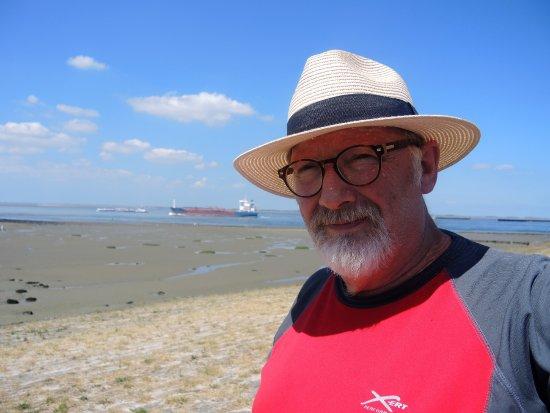 Terneuzen, Belanda: zicht op de Westerschelde
