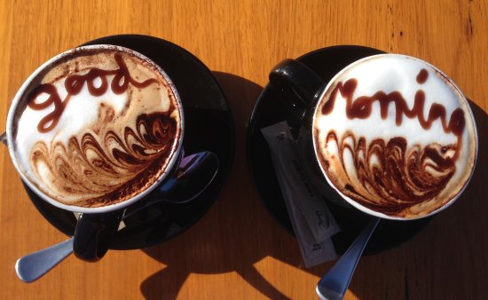 Paynesville, Australien: Even the coffee welcomes you!
