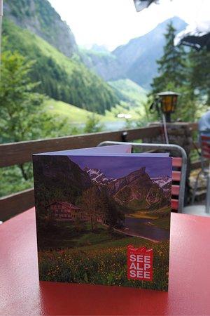 Weissbad, Zwitserland: Berggasthaus Seealpsee