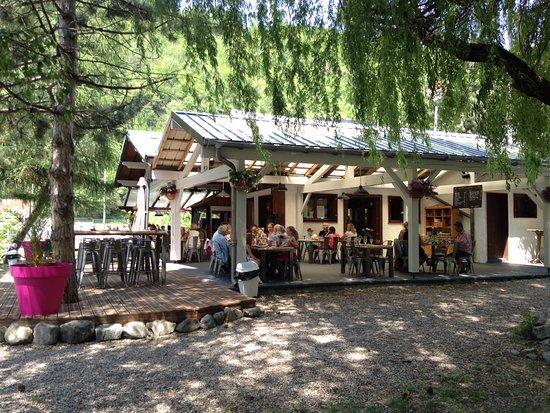 Macot-la-Plagne, Frankrike: Terrasse Restaurant Rive Gauche