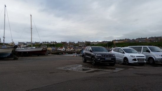 Buckie, UK: car park and views