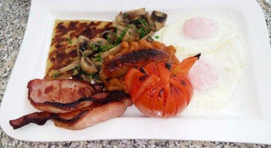 Campbeltown, UK: Full Scottish Breakfast.