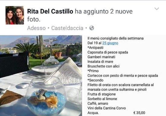 Casteldaccia, Italia: Il nostro menù consigliato della settimana Dal 19 al 25 Giugno