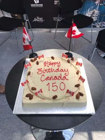 Awe Inspiring Canada 150 Maple Pecan Birthday Cake Picture Of Primrose Bakery Funny Birthday Cards Online Chimdamsfinfo