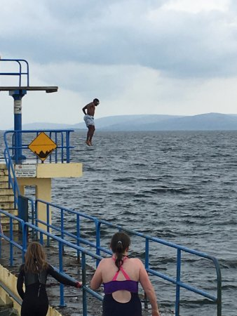 Salthill Beaches: Jumping in to water into Atlantic