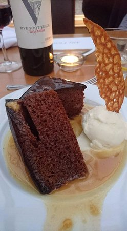 Kilmarnock, UK : Fabulous Sticky Toffee Pudding - very generous portion as big enough for 2 to share!
