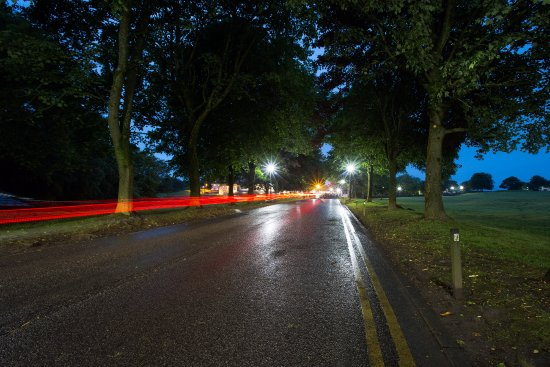 Bromley Cross, UK: The Drive at night