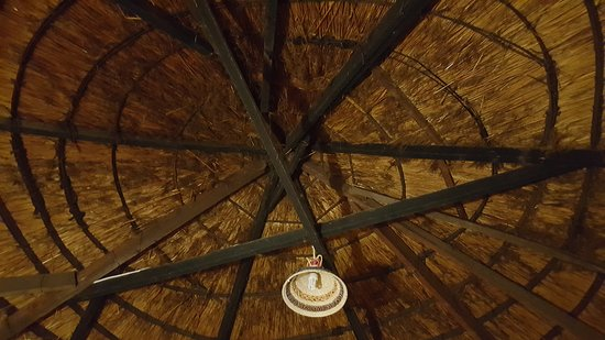Roma Trading Post Lodge : Picture of roof with black smoke stain.