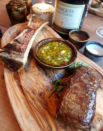 Egilsstadir, Iceland: Black Angus, Chimichurri & bone marrow