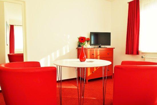 Klausdorf, Tyskland: Doppelzimmer Sitzbereich