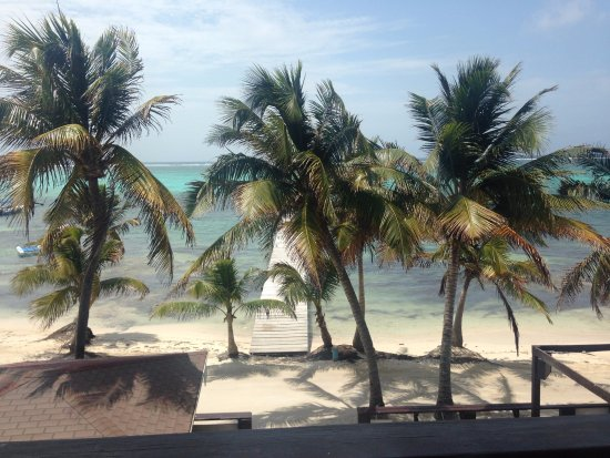 Ocean Tide Beach Resort: the perfect view from the front door of our room