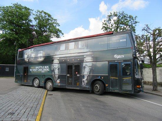 Visit Carlsberg : Carlsberg free shuttle bus into the centre of Copenhagen