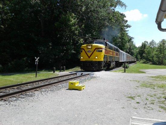 Peninsula, OH : train approaching
