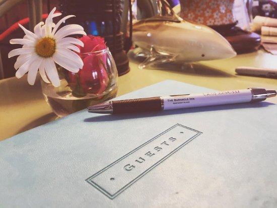The Barnacle Inn: Guest Book