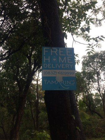 Anjuna, India: Their signs all over the area